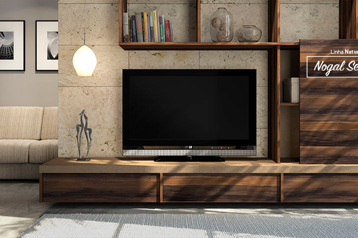 Home Theater Planejado Linear Interiores